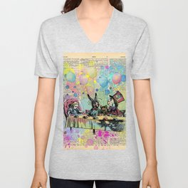 Tea Party Celebration - Alice In Wonderland Unisex V-Neck