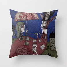 Tea for Two (1) Throw Pillow