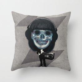 Music Trip Throw Pillow