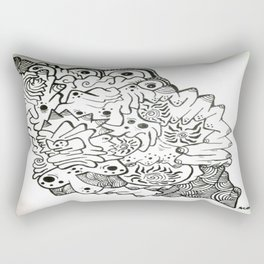 Eyes of the Lady Ink Doodle Rectangular Pillow