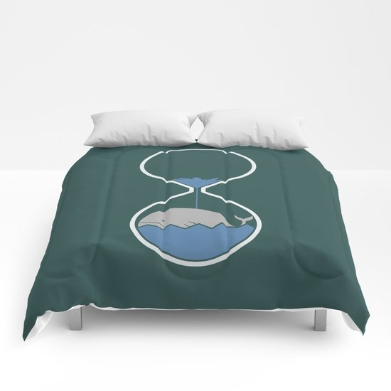 whale hourglass Comforters