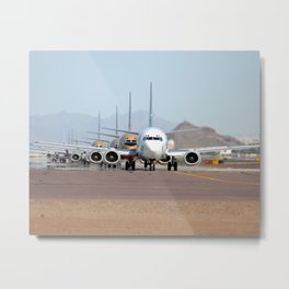 Busy Airport Lineup Metal Print
