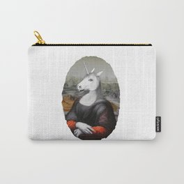 Unicorn Mona Lisa Carry-All Pouch