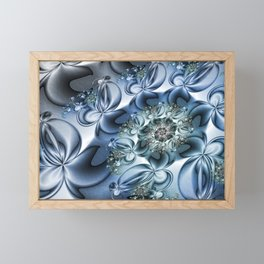 Dynamic Spiral, Abstract Fractal Art Framed Mini Art Print