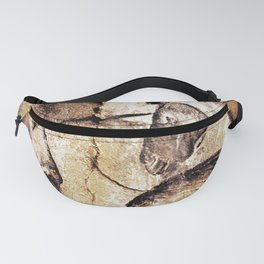 Facing Horses // Chauvet Cave Art Fanny Pack
