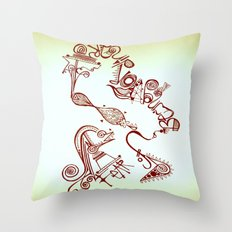 fear of being ordinary Throw Pillow