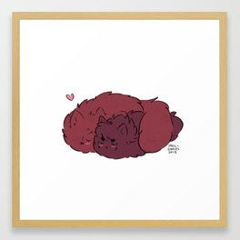 Fluffy Smooch Framed Art Print