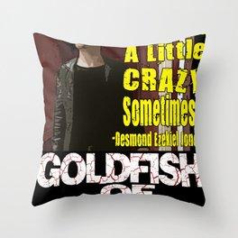 Goldfish of Doom - Desmond Crazy Throw Pillow