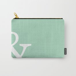 Vintage mint green Ampersand art print Carry-All Pouch