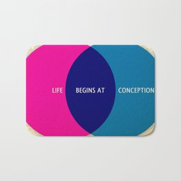 Life Begins At Conception Bath Mat