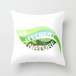 DIFFERENT NATURE - ROAD TO MUNICH Throw Pillow