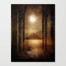 The moon is singing Canvas Print