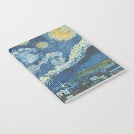 Swirly Night Notebook