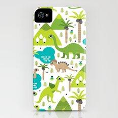 Dinosaur illustration pattern print Slim Case iPhone (4, 4s)