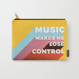 MUSIC MAKES ME - TYPOGRAPHY Carry-All Pouch