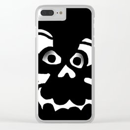 Funny Skull  Black Gray Clear iPhone Case
