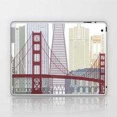 San Francisco skyline poster Laptop & iPad Skin