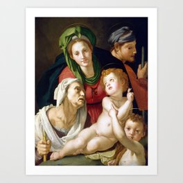 Agnolo Bronzino The Holy Family Art Print