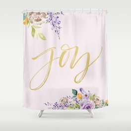Floral Watercolor Shower Curtain