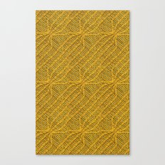 Yellow Lines Knit Canvas Print