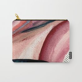 Rollercoaster - a vibrant, mixed media abstract piece in blues, pinks, and purples Carry-All Pouch