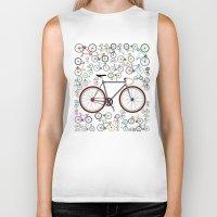 brompton Biker Tanks featuring Love Fixie Road Bike by Wyatt Design