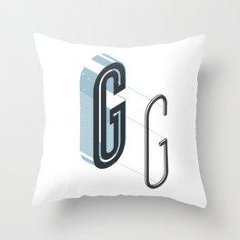 The Exploded Alphabet / G Throw Pillow
