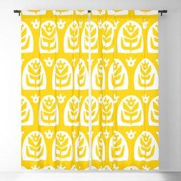 Mid Century Modern Sunflower Yellow Blackout Curtain