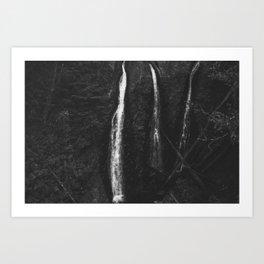 Triple Falls BW Art Print