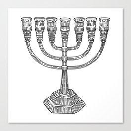 vector doodle menorah, chanukah holiday Canvas Print