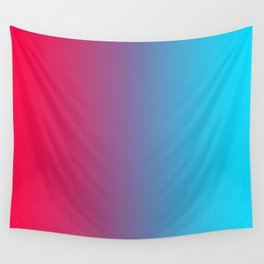 Pink and Sky-Blue Gradient 010 Wall Tapestry