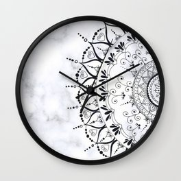'If You Can't Control it Let it Go' Quote Mandala Marble Wall Clock
