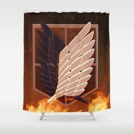Attack On Titan Logo Shower Curtain