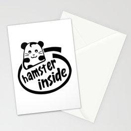hamster inside Stationery Cards