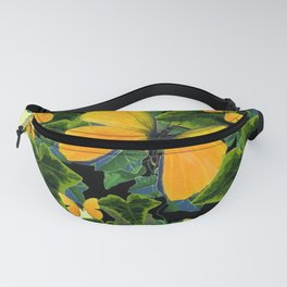 GREEN IVY LEAVES & YELLOW BUTTERFLIES Fanny Pack