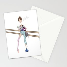 Morning ballet class Stationery Cards