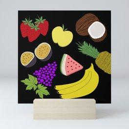 Fruit! in Black Mini Art Print