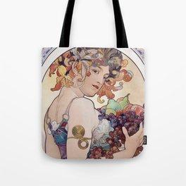 """Alfons Mucha,"""" Fruit """" Tote Bag"""