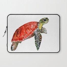 Sea Turtle red green turtle design, trutle illustration Laptop Sleeve