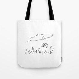 Whale Plane  Tote Bag