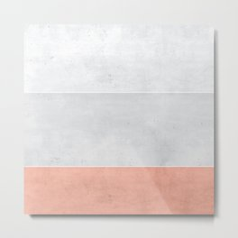Grey Rose Metal Print