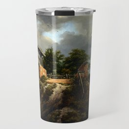 Jacob van Ruisdael Bridge with a Sluice Travel Mug
