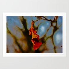 The last leaf standing... Art Print