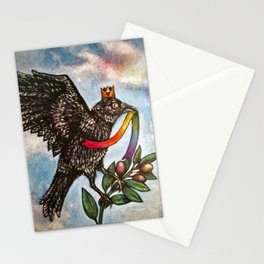 Pride Crow Stationery Cards