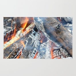 fire, ember and ash Rug