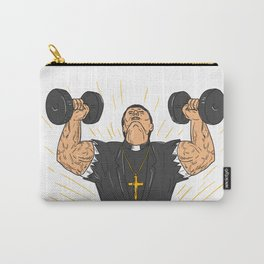Ripped Priest Exercise Dumbbell Drawing Carry-All Pouch