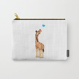 Cute little giraffe. Vector graphic character Carry-All Pouch