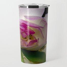 white and pink roses Travel Mug