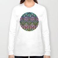 matrix Long Sleeve T-shirts featuring Dot Matrix... by Lisa Argyropoulos