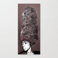 erykah badu Canvas Prints featuring Erykah Badu by Simone Rohler Art